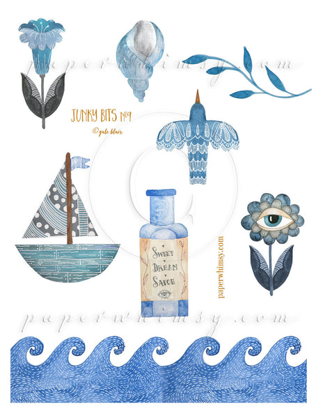 Junky Bits No.9 PNG - paperwhimsy