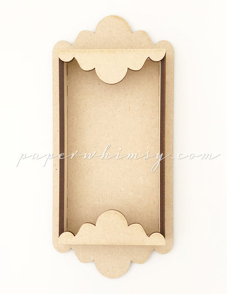 Scalloped Shadowbox - paperwhimsy