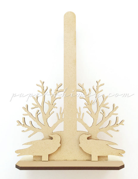 Stand - Crow & Branches - paperwhimsy
