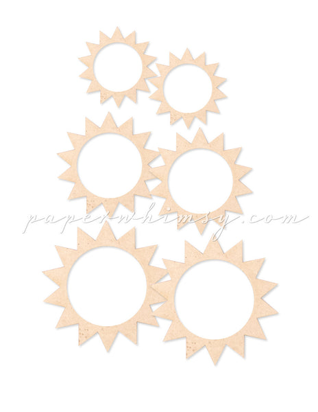 Sunburst Circlets - paperwhimsy