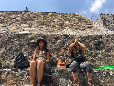 Meditating at the Temple of the Feathered Serpent