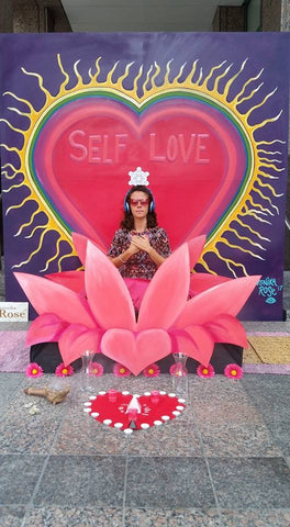"Interactive Mural ""Self Love Activation,"" Creative City Project 2017, Orlando FL."