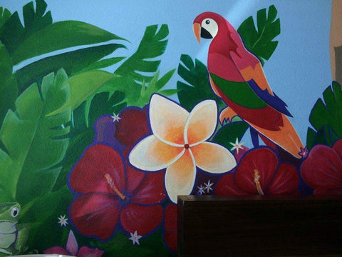 Jungle Themed Mural in Kissimmee. FL. Working with TJ Colors LLC.