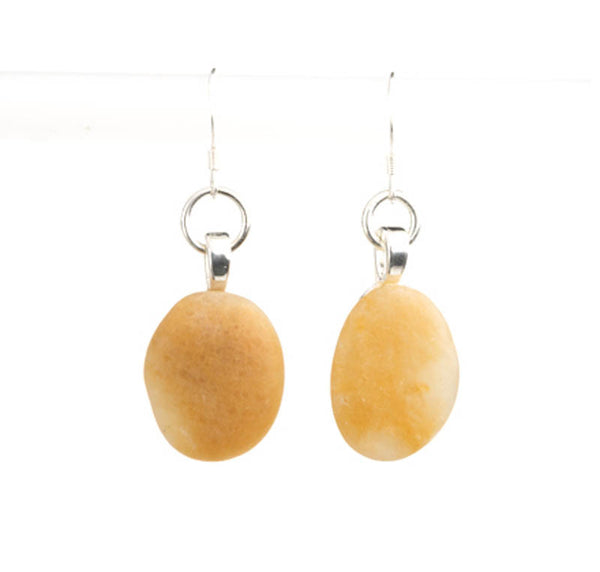 SIGNATURE BEACH STONE EARRINGS - evamichele