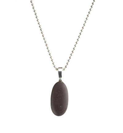 SIGNATURE BEACH STONE NECKLACE - evamichele