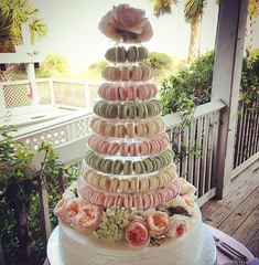 Custom Macaron Tower and Cake