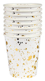 Vasos gold splatter