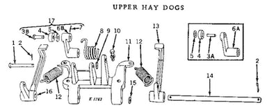 Hay Dog Spring for John Deere Models 14T, 214T