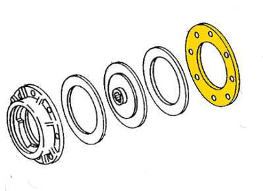 Rear Clutch Plate for John Deere Models 336, 346, 327, 337, 347, 328, 338, 348