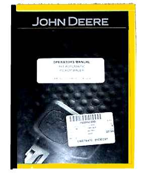 Operators Manual for John Deere Model 14