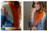 Self Fringing Bamboo Shawl  Kit – kit 012