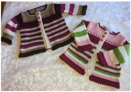 YUMA BABY SWEATER Designed by Sandy Rowney - kit 025