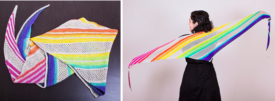 For the Love of Rainbows Shawl