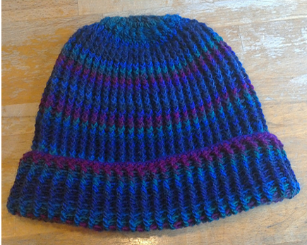 Crocheted Post Stitch Stocking Hat