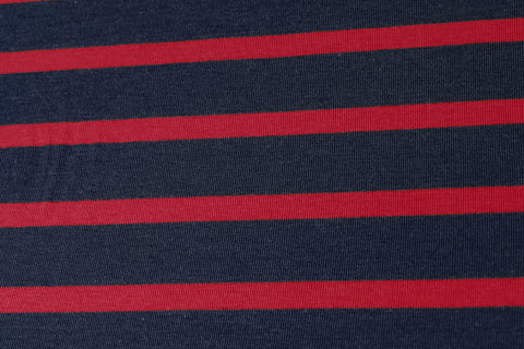 Bamboo Stripe Jersey – Navy/Red