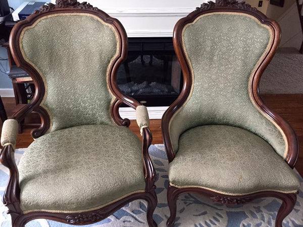 Victorian Ladies and Gentlemen Chairs