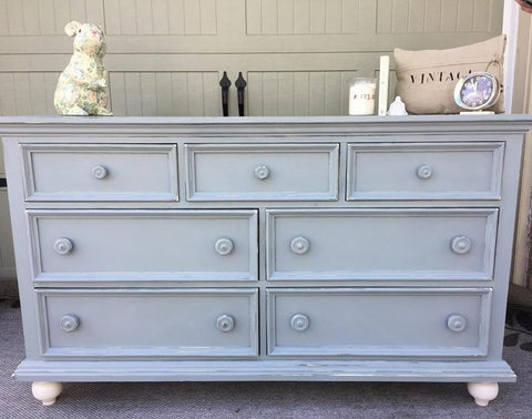 gorgeous refinished shabby chic dresser