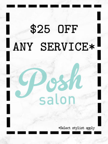 Posh Salon Coupon New Clients