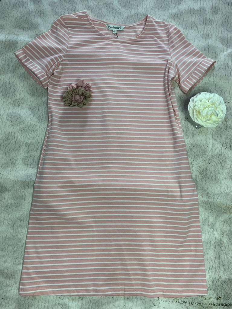 Light Pink Striped Dress