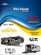 FOR MEMBERS ONLY. RVs Rated Towables Buying Guide For Years 2011-2016. Downloadable/Printable E-book v20.2