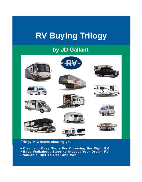 RV Buying Trilogy (3 books in 1) walks you through the selection, inspection, and buying process. Included in Membership Package.