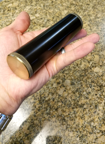 custom aluminum and brass cigar tube