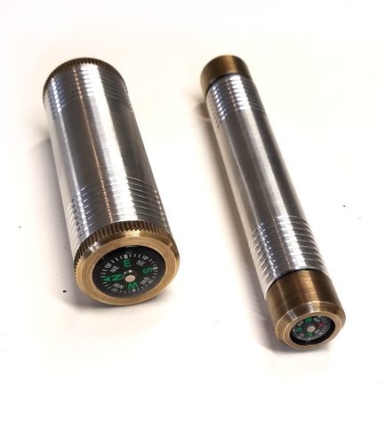 Custom match tube and matching fire piston with aged brass end caps