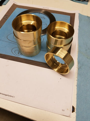 Custom brass faucet trim pieces