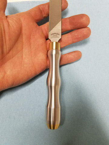 Custom brass and aluminum file handle