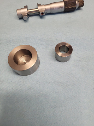 Two-piece stainless steel and titanium top