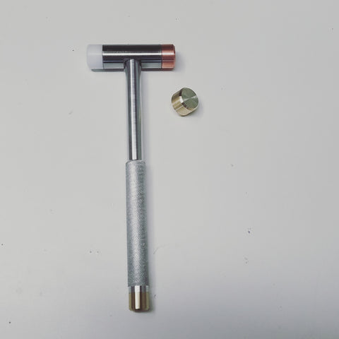 Custom machined non-marring hammer
