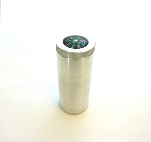 aluminum match tube with compass