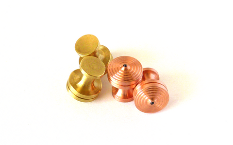 Brass and Copper Cuff Link Tops - Brass and Copper