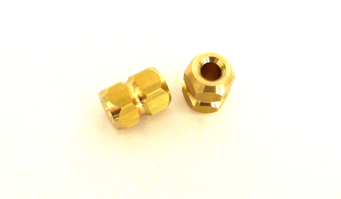 Hexagonal brass lanyard bead