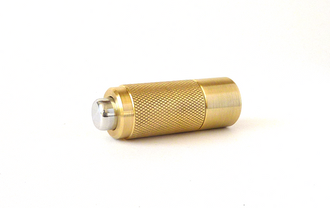 Hand-crafted brass and aluminum cigar punch