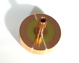Copper and brass spinning top