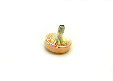 Copper, brass and aluminum spinning top
