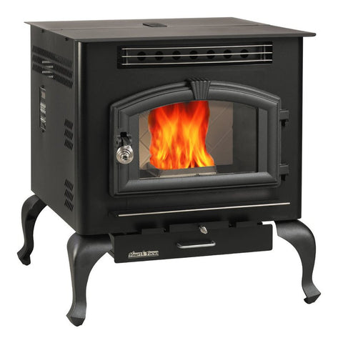 US Stoves 6041HF Pellet/Corn Fueled Stove W/ Legs - Iron Wood Supply