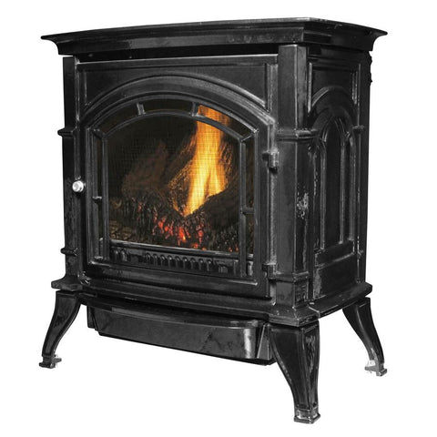 Ashley Freestanding Natural Gas Wood Stove - Iron Wood Supply