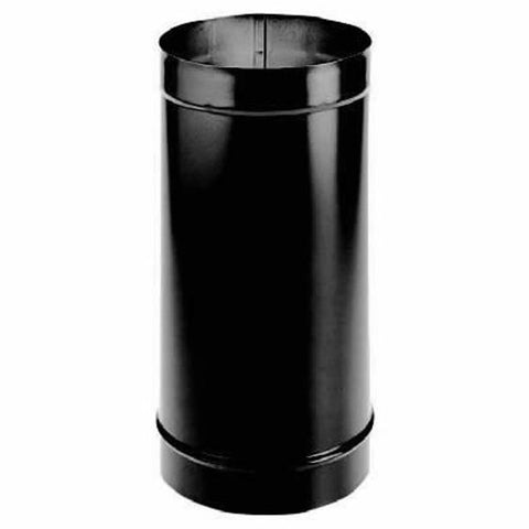 "6"" Single Wall Stove Pipe - Black - Iron Wood Supply"