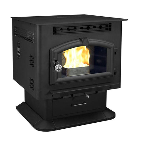 US Stoves 6041 Pedestal Model Corn/Pellet Burner - Iron Wood Supply