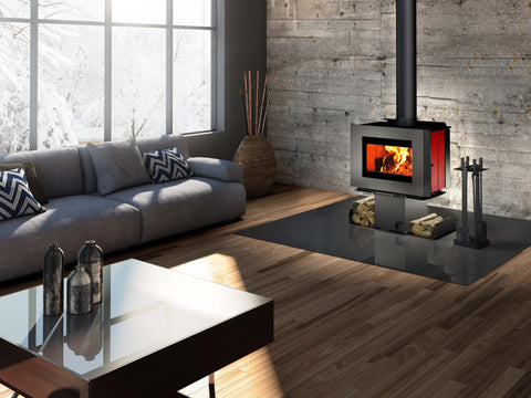Osburn Soho Contemporary Wood Burning Stove - Iron Wood Supply
