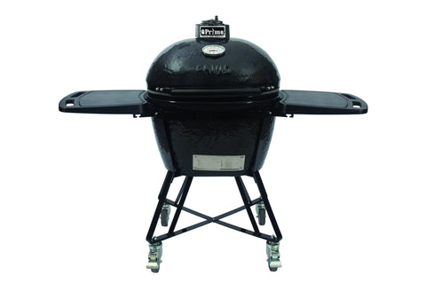 Primo PRM7400 Oval JR 200 All-In-One Ceramic Smoker Grill On Cart - Iron Wood Supply