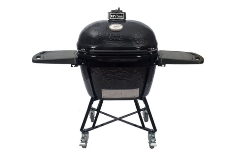 Primo PRM7800 Oval XL 400 All in One Ceramic Smoker Grill - Iron Wood Supply