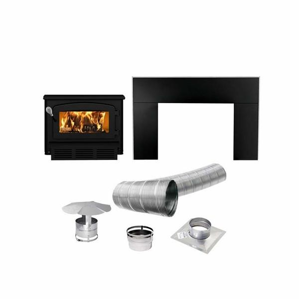 Drolet Escape 1400-I Wood Stove Insert - DB03122K - Iron Wood Supply