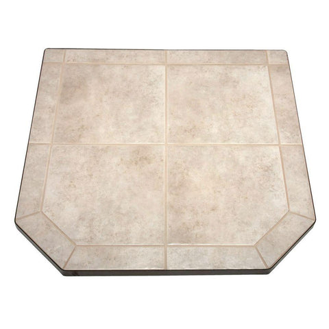 48 Inch Wood Stove Tile Hearth Pad - Iron Wood Supply