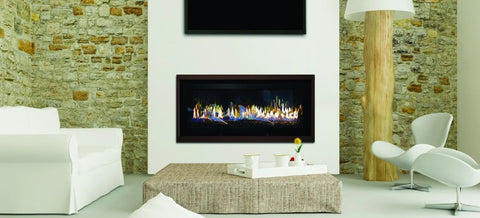 Stellar Hearth CML-58 Modern Linear Gas Fireplace - Iron Wood Supply