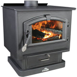 US Stove 2500 Wood Stove with Blower - Iron Wood Supply