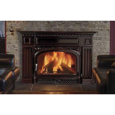 Vermont Castings Montpelier Majolica Brown Non-catalytic Wood Burning Insert - Iron Wood Supply