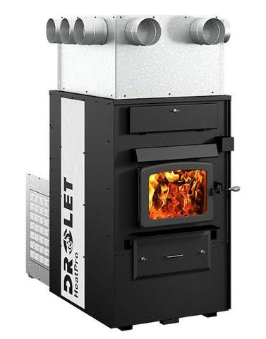 Drolet Indoor Wood Furnace - HeatPro DF03000 - Iron Wood Supply